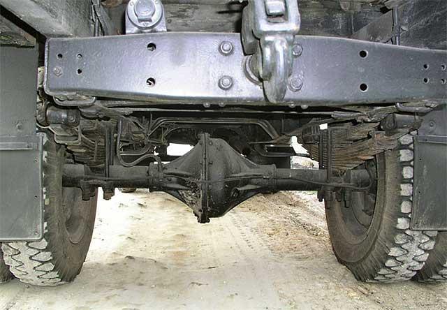 Задний мост у ГАЗ-51 с разрезным картером