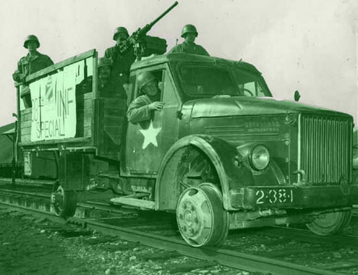 ГАЗ-51Н, захваченный американцами в Корее и превращённый ими в автодрезину.