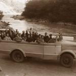 У реки Бзыбь по дороге к Голубому озеру, 1955 г.
